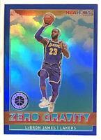 2019-20 NBA HOOPS PREMIUM STOCK BLUE PRIZM REFRACTOR ZERO GRAVITY LEBRON JAMES