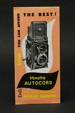 Original Minolta Autocord Sales Brochure