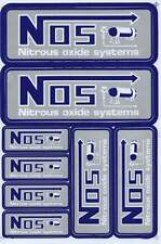 "D481 NOS N.O.S. grey blu Racing Tuning Sticker Decal 1 Sheet 10,5""x7"" / 27x18 cm"