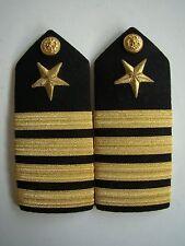 USN US Navy USS O-6 Captain Capt Service & Dress Uniform Shoulder Rank Board PR