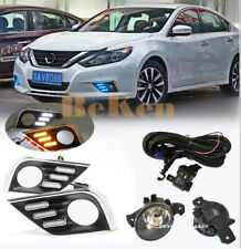 LED DRL Daytime Running Lamps Harnes Fog Lights Kit for 2016-2018 Nissan Altima