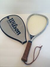 Wilson Tempest Racquetball Racquet With Cover Leather Grip Silver Vintage