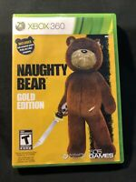 Naughty Bear Gold Edition (Microsoft Xbox 360, 2011) GAME COMPLETE CIB Tested