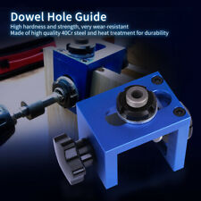 Wood Dowel Hole Drilling Guide Jig Drill Bit Carpentry Positioner Locator Tool