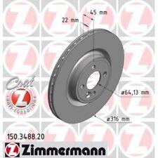 2x ZIMMERMANN Brake Disc COAT Z 150.3488.20