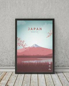JAPAN poster, Mount Fuji print, Visit Japan Print wall art, travel gift, home