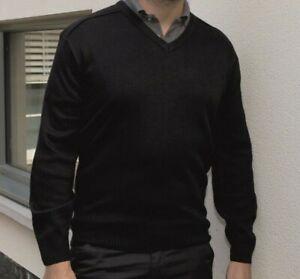 Mens V neck BLACK soft workwear work wear jumper pullover   RTY RT20 3XL 4XL 5XL