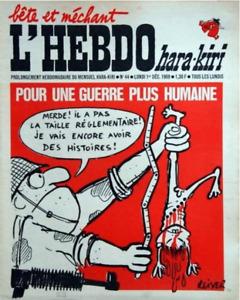 HARA-KIRI HEBDO N°44 DU 1er DÉCEMBRE 1969/CABU, REISER, WILLEM, WOLINSKI/EO TBE