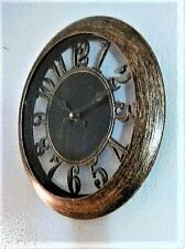 SALE $ - 12-Inch - Round Vintage Retro-Decorative-Wall-Clock - Aged Antique Gold