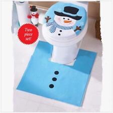 Christmas Washroom Toilet Seat Cover Set Bathroom Set Decor Xmas Decor YD