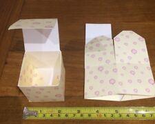 10 Jolies Bonbonnières en Carton À Plier Soi Même Baptême Rose