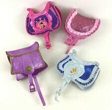 Disney Princess Horse Saddle 4pc Lot Mulan Cinderella 2007 Sparkle Pony Mattel