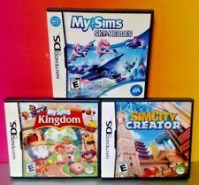 MySims Sky Heroes Kingdom Sim City Creator Nintendo DS Lite 3DS 2DS 3 Sim Games
