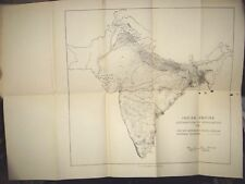 "INDIA RARE - MAP OF INDIAN EMPIRE DISTRIBUTION OF POPULATION 1941 22""X16.1/2"""