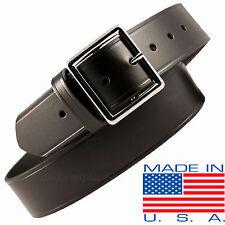 "Men Boston Leather 1-3/4"" Garrison Belt 6605 USA MADE BLACK 30-60 Plain Buckle"