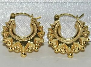 9CT GOLD CHILDREN'S / BABY GYPSY STYLE CREOLE EARRINGS