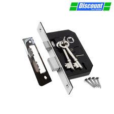 Internal Door Lock - 3 Lever Mortice Sash Lock for Internal Doors with 2 Keys