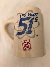 LAS VEGAS 51s BEER STEIN--*BOB FM 107.9*--BASEBALL --HEAVYWEIGHT--HANDLE--EUC