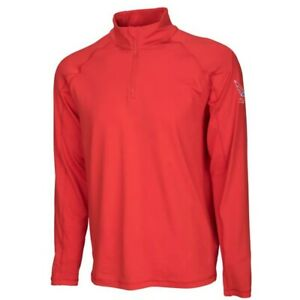 NWT MENS PUMA VOLITION CORE 1/4 ZIP GOLF POPOVER (PULLOVER) 575152-01 RED SZ MED