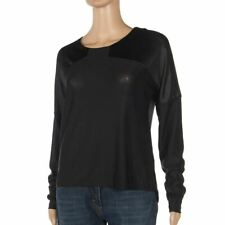 Vero Moda Top Black Long Sleeved Shimmer Loose Fit Sweater Size Small Be 228
