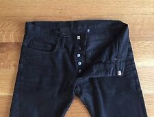 DIOR Homme Mens MII 15 cm Denim Black Stretch Denim Jeans Size 28 29 x 29