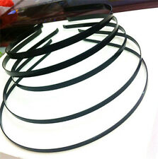 BLACK ALICE BAND PLAIN METAL HEADBAND CRAFT HEADBANDS TIARA BASE HAIR BAND