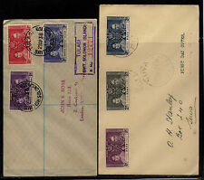 Fiji and Solomon Islandss registered 1937 coronation stamps on cover Kl0305