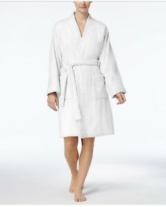 WOMEN'S LAUREN RALPH LAUREN GREENWICH BATH ROBE XL $79 WHITE