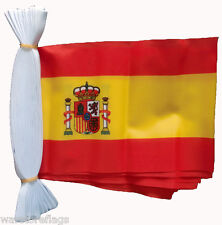 More details for spain 9 metre flag bunting spanish with crest 30 feet 30 flags polyester cloth
