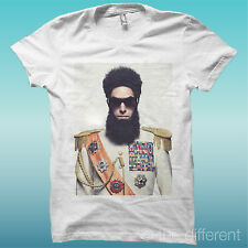 """T-SHIRT """" FILM THE DICTATOR  """" BIANCO THE HAPPINESS IS HAVE MY T-SHIRT NEW"""