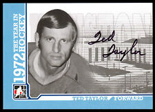 09 ITG 1972 THE YEAR IN HOCKEY AUTO SIGNED AUTOGRAPH TED TAYLOR HOUSTON AEROS