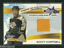 SCOTT HARTNELL 2001-02 BOWMAN YOUNG STARS GAME WORN JERSEY NASHVILLE