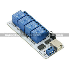 SainSmart 12V 4 Channel USB Relay Board Automation Module For Arduino Robot AVR