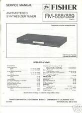 FISHER ORIGINAL Service Manual FM-888 FM-889 free US SH