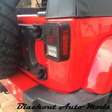 Jeep Tail Light Covers for Jeep Wrangler JK 2007 and Up Made in USA