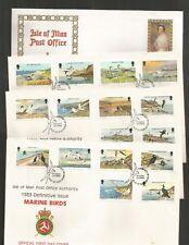 I.O.M 1983-85 SEA BIRDS DEFINITIVE SET OF 4 FDC'S SG,232-248 LOT R991