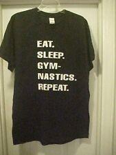 Gildan Ultra Cotton Solid Black T-Shirt Unisex Size L Gymnastic Theme Sports