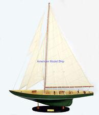 "Shamrock Sailboat Wooden Model Yacht 32"" Built Yacht Wooden Model"