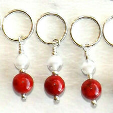 KNITTING  ACCESSORIES STITCH MARKERS, HANDMADE, BEADED   #030