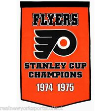 PHILADELPHIA FLYERS STANLEY CUP CHAMPS DYNASTY BANNER CLARKE PARENT