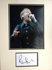 RICKY WILSON - CHART TOPPING SINGER - KAISER CHIEFS -  SIGNED PHOTO DISPLAY