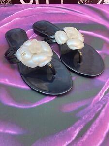 Chanel Camellia Flower  Jelly Flip Flop Size Uk  4(Eu 37)