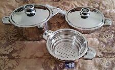 German Stainless Steel Heavy Duty 16 Pc Set Cookware Pots Pans