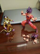 dragon ball z action figures lot. S.H. Figuarts Goku (Kaio-ken) & Golden Frieza