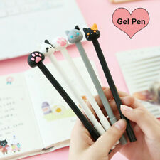 2PCs/lot Kawaii Cat Gel Pen Lovely Claw Black Ink Pens for Writing Stationery WT