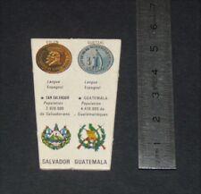 CHROMO YOPLAIT ANNNES 1970 LE MONDE ET SES RICHESSES O1 SALVADOR GUATEMALA
