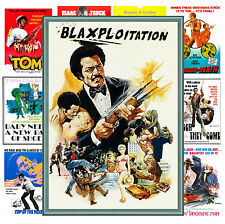 "Mini Posters [13 posters 8""x11""/A4] Blaxploitation Action Movie Vintage MP466"