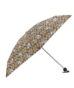 Coach X Peanuts Uv Protection Mini Umbrella In Signature Snoopy Print