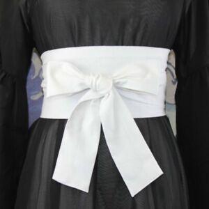 Lady Japanese Wide Belt Cotton Blend Corset Waistband Obi Kimono Yukata Ornament