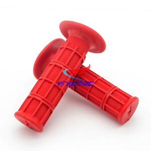 Red Rubber Hand Grips Fit For CR80R/85R CRF150R CR125R/250R CRF450R CRF450R
